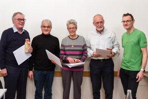 50 Jahre Mitgliedschaft, Heinrich Hochuli, Ulrich Niederer, Rosmarie Zimmermann, Jörg Stirnemann