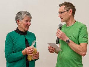 Verabschiedung von Ruth Graber, Ehrenmitglied und langjährige Kassiererin aus dem Vorstand