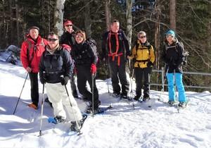 Die Schneeschuhläufergruppe